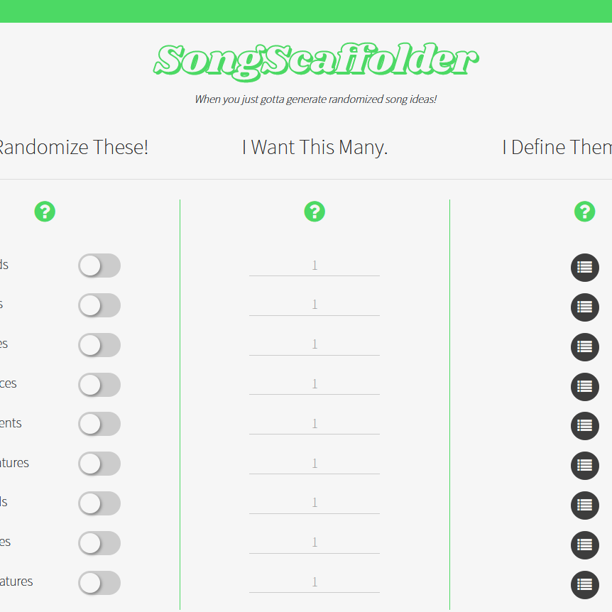 Song Scaffolder - Preview Pic